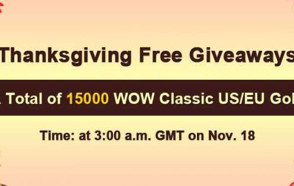 Free 15000 wow classic gold cheap fast delivery as 2020 Thanksgiving Free Giveaways