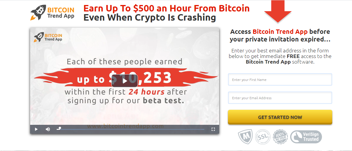 Bitcoin Trend App   Bitcoin Trend App Signup, Reviews, Price, Scam